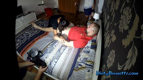 Webcam teen couple feet